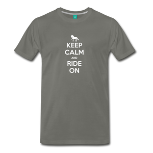 Men's Keep Calm and Ride On T-Shirt - asphalt