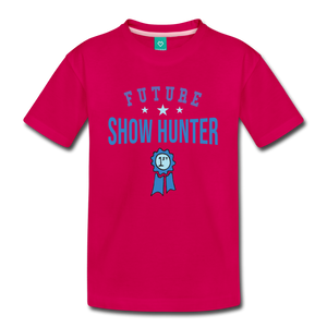 Kids' Future Show Hunter T-Shirt - dark pink