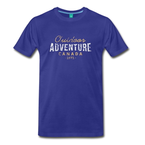 Men's Outdoor Adventure Canada T-Shirt - royal blue