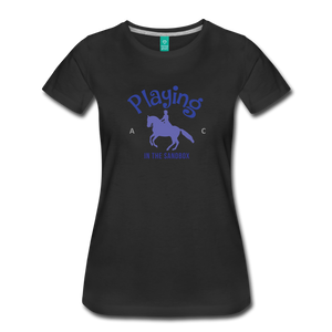 Women's Playing in the Sandbox T-Shirt - black