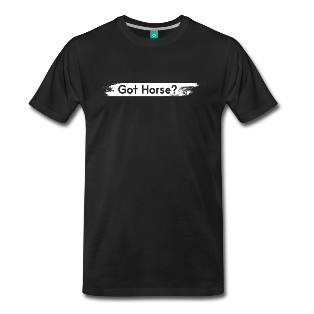 Men's Got Horse T-Shirt - black