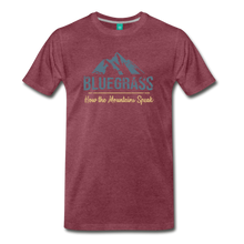 Load image into Gallery viewer, Men's Bluegrass Mountains Speak T-Shirt - heather burgundy