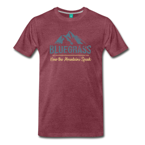Men's Bluegrass Mountains Speak T-Shirt - heather burgundy