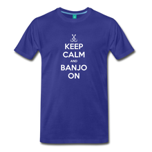 Load image into Gallery viewer, Men's Keep Calm and Banjo On T-Shirt - royal blue
