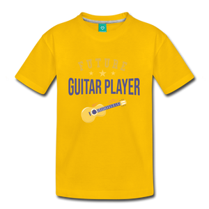 Kids' Guitar Player T-Shirt - sun yellow
