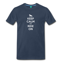 Load image into Gallery viewer, Men's Keep Calm and Ride On T-Shirt - navy