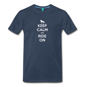 Men's Keep Calm and Ride On T-Shirt - navy