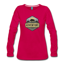 Load image into Gallery viewer, Women's Adventure Life Long Sleeve Shirt - dark pink