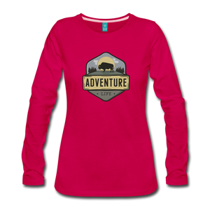 Women's Adventure Life Long Sleeve Shirt - dark pink