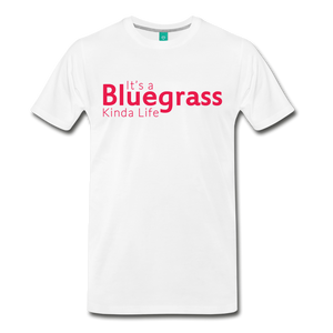 Men's Bluegrass Kinda Life T-Shirt - white
