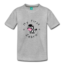 Load image into Gallery viewer, Kids' My First Zebra T-Shirt - heather gray