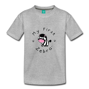 Kids' My First Zebra T-Shirt - heather gray