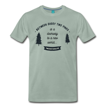 Load image into Gallery viewer, Men's Between Every Two Pines T-Shirt - steel green