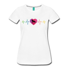 Load image into Gallery viewer, Women's Horse Heartbeat T-Shirt - white