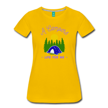 Load image into Gallery viewer, Women's Campers Life T-Shirt - sun yellow