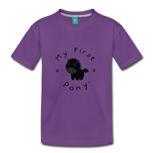 Load image into Gallery viewer, Kids' My First Pony T-Shirt (black) - purple