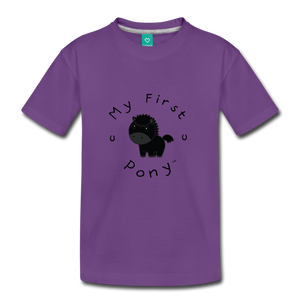 Kids' My First Pony T-Shirt (black) - purple