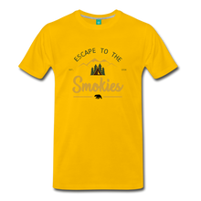 Load image into Gallery viewer, Men's Escape to the Smokies T-Shirt - sun yellow