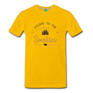 Men's Escape to the Smokies T-Shirt - sun yellow