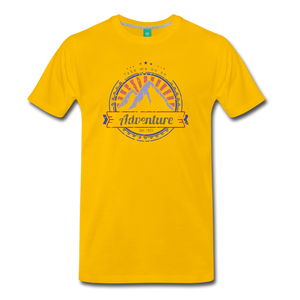 Men's Take me on an Adventure T-Shirt - sun yellow
