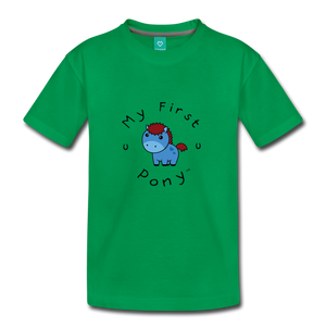 Toddler My First Pony T-Shirt (blue) - kelly green