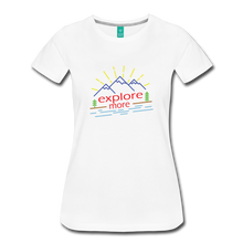 Load image into Gallery viewer, Women's Colored Explore More T-Shirt - white