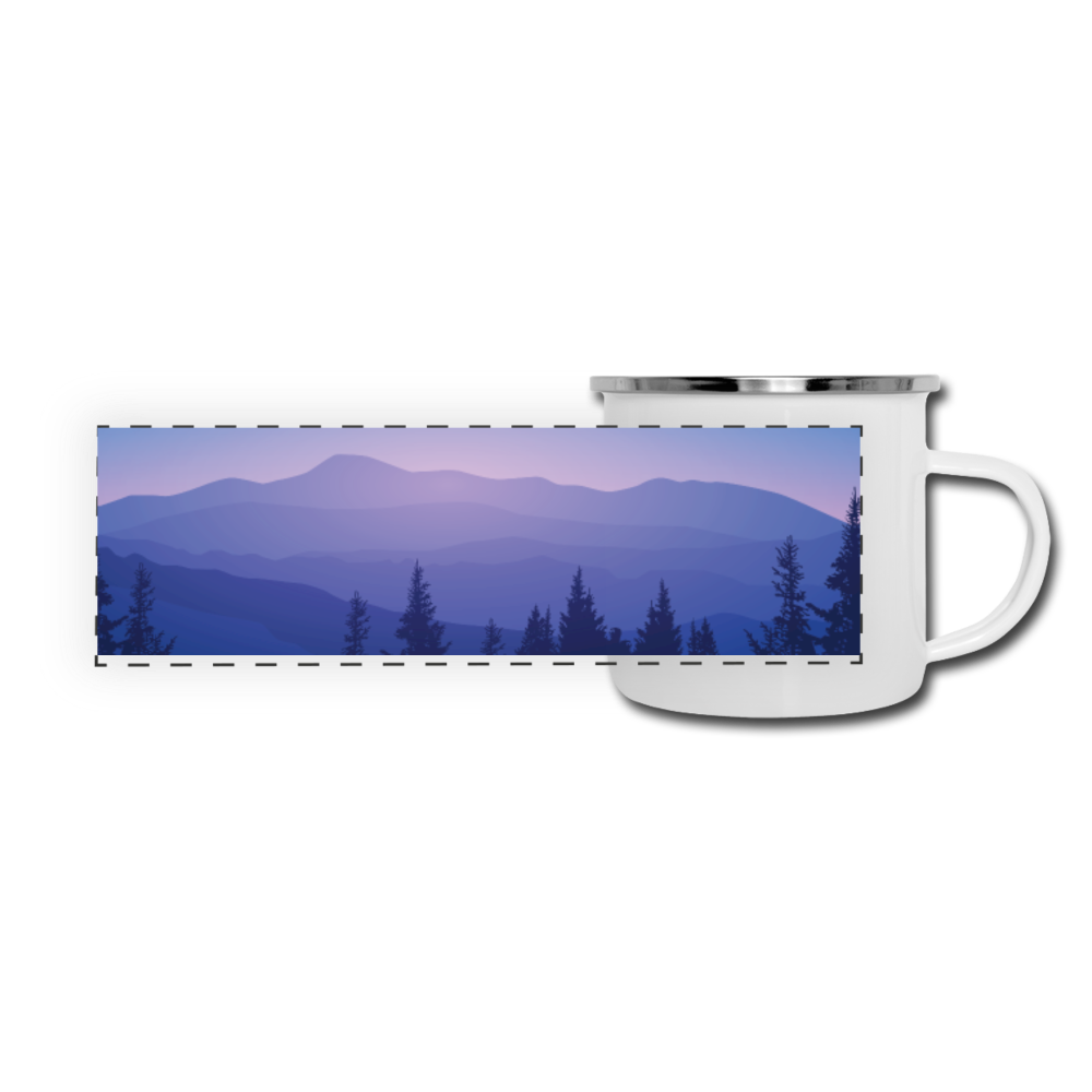 Blue Ridge Mountains Camper Mug - white