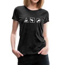 Load image into Gallery viewer, Women's Horse Symbols (solid) T-Shirt - charcoal gray