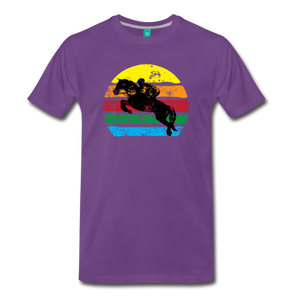 Men's Jumping Sun T-Shirt - purple
