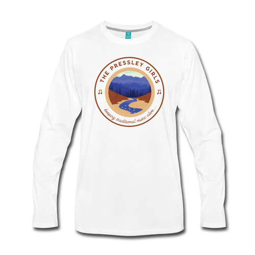 Men's The Pressley Girls Long Sleeve T-Shirt - white