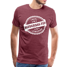 Load image into Gallery viewer, Men's Bluegrass-Fed T-Shirt - heather burgundy