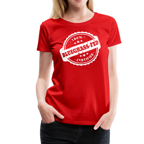 Women's Bluegrass-Fed T-Shirt - red