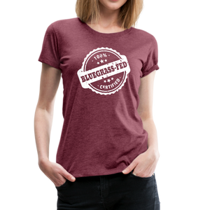 Women's Bluegrass-Fed T-Shirt - heather burgundy