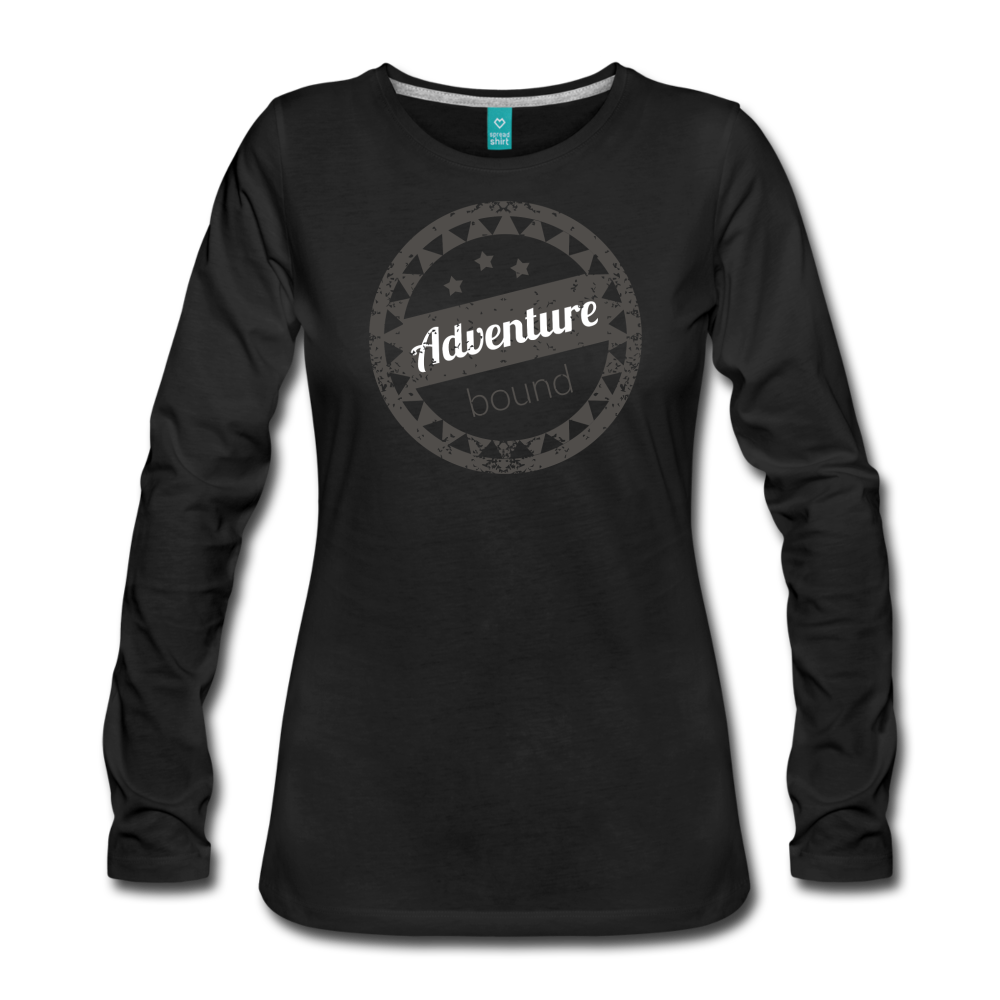 Women's Adventure Bound Long Sleeve T-Shirt - black