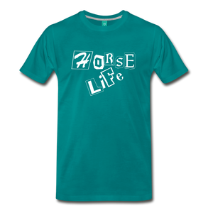 Men's Horse Life T-Shirt - teal