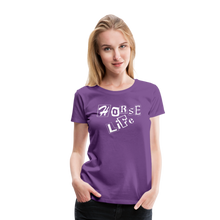 Load image into Gallery viewer, Women's Horse Life T-Shirt - purple
