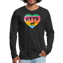 Load image into Gallery viewer, Men's OTTB Rainbow Heart Long Sleeve T-Shirt - black