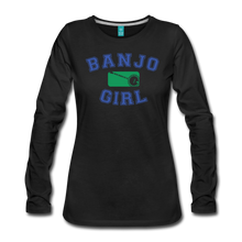 Load image into Gallery viewer, Women's Banjo Girl Long Sleeve T-Shirt - black