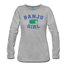Load image into Gallery viewer, Women's Banjo Girl Long Sleeve T-Shirt - heather gray