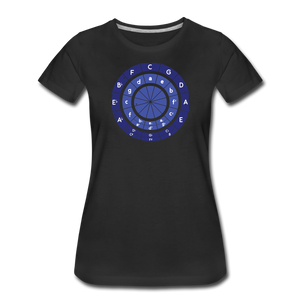 Women's Circle of Fifths T-Shirt - black