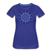 Load image into Gallery viewer, Women's Circle of Fifths T-Shirt - royal blue