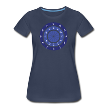 Load image into Gallery viewer, Women's Circle of Fifths T-Shirt - navy