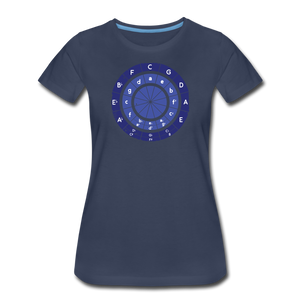 Women's Circle of Fifths T-Shirt - navy