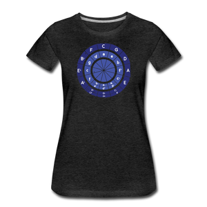 Women's Circle of Fifths T-Shirt - charcoal gray