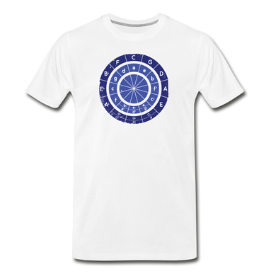 Men's Circle of Fifths T-Shirt - white