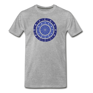 Men's Circle of Fifths T-Shirt - heather gray