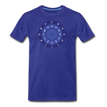 Load image into Gallery viewer, Men's Circle of Fifths T-Shirt - royal blue