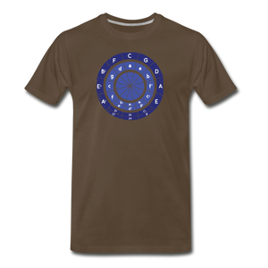 Men's Circle of Fifths T-Shirt - noble brown