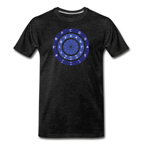 Men's Circle of Fifths T-Shirt - charcoal gray