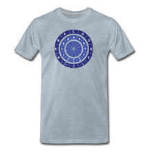 Load image into Gallery viewer, Men's Circle of Fifths T-Shirt - heather ice blue